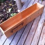 自作 プランター ワイン木箱で